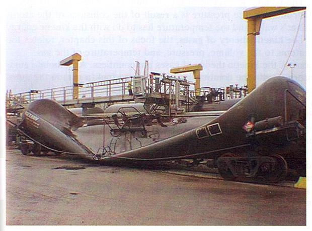 crushed fertilizer rail car