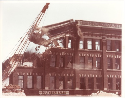 Old Dultmeier building getting the wrecking ball!