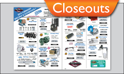 Car Wash Equipment and Supplies Closeouts