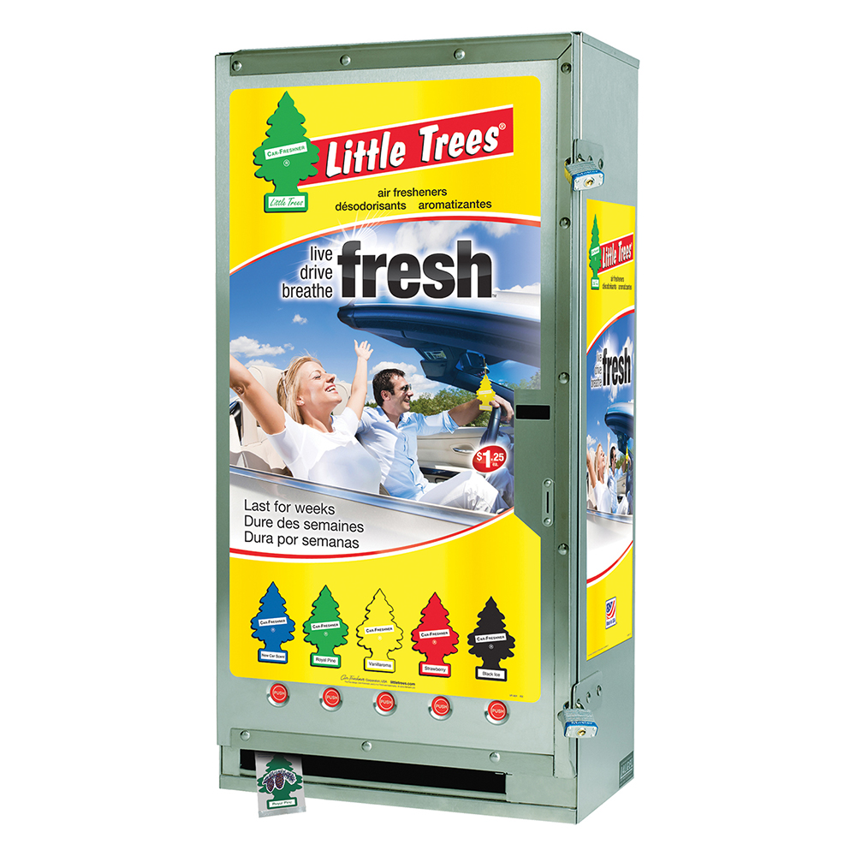 Car Freshner LITTLE TREES® Vending Machines, Five Column ...