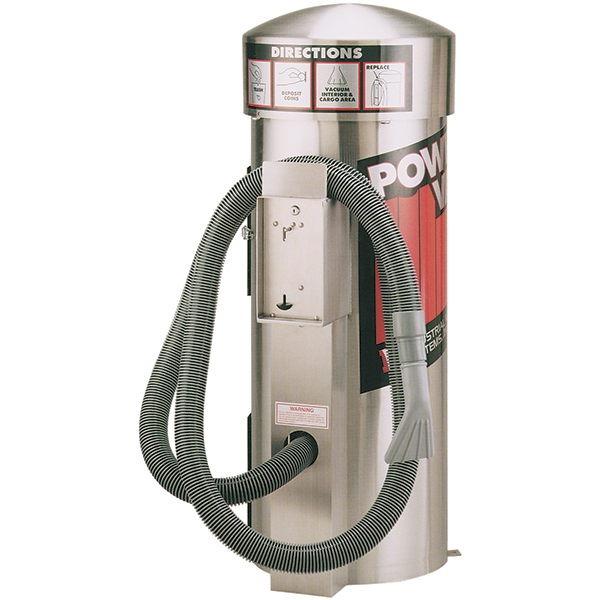"""GinSan """"Power Vac"""" Vacuums Stainless Steel Coin Operated"""