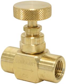 Generant Needle Valve Brass 3 8 Quot Fpt X 3 8 Quot Fpt 2000