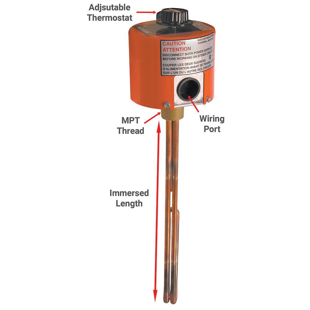 Watlow Immersion Heaters - Dultmeier Sales on