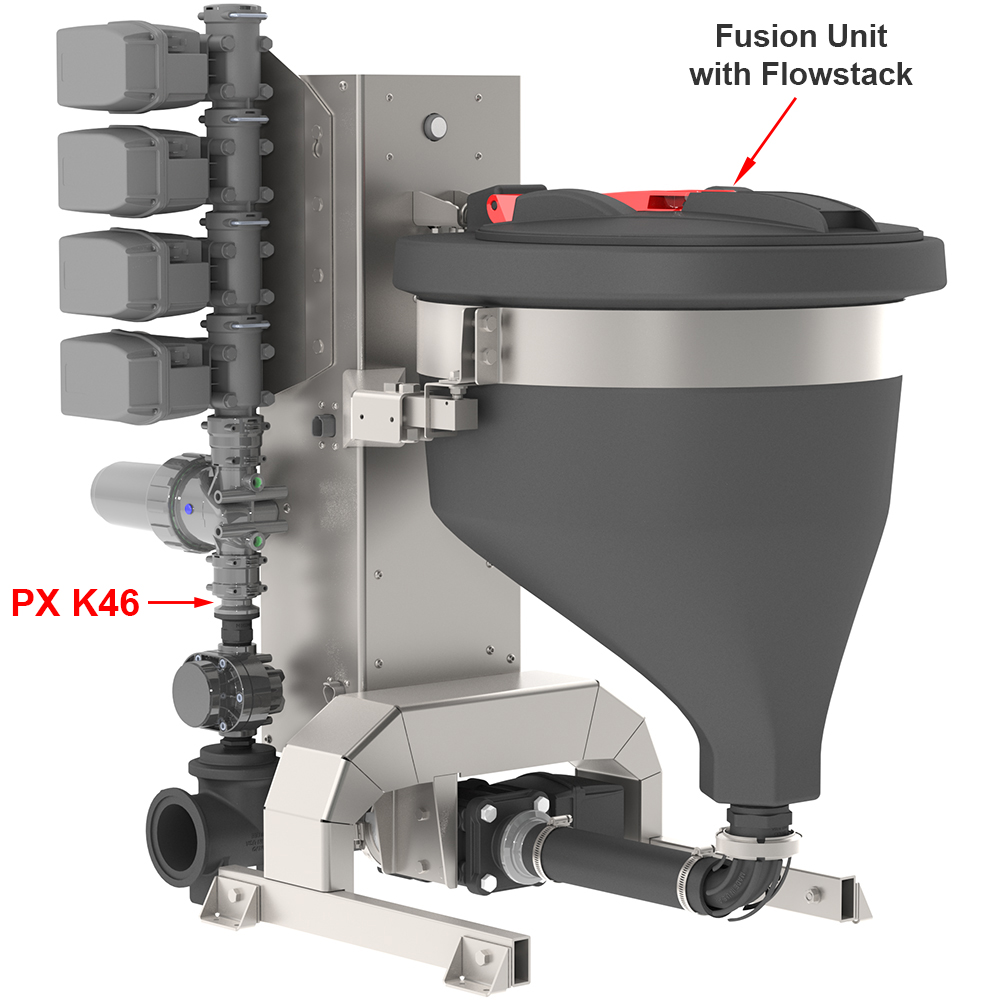 Praxidyn MixMate Fusion Chemical Inductor - Dultmeier Sales