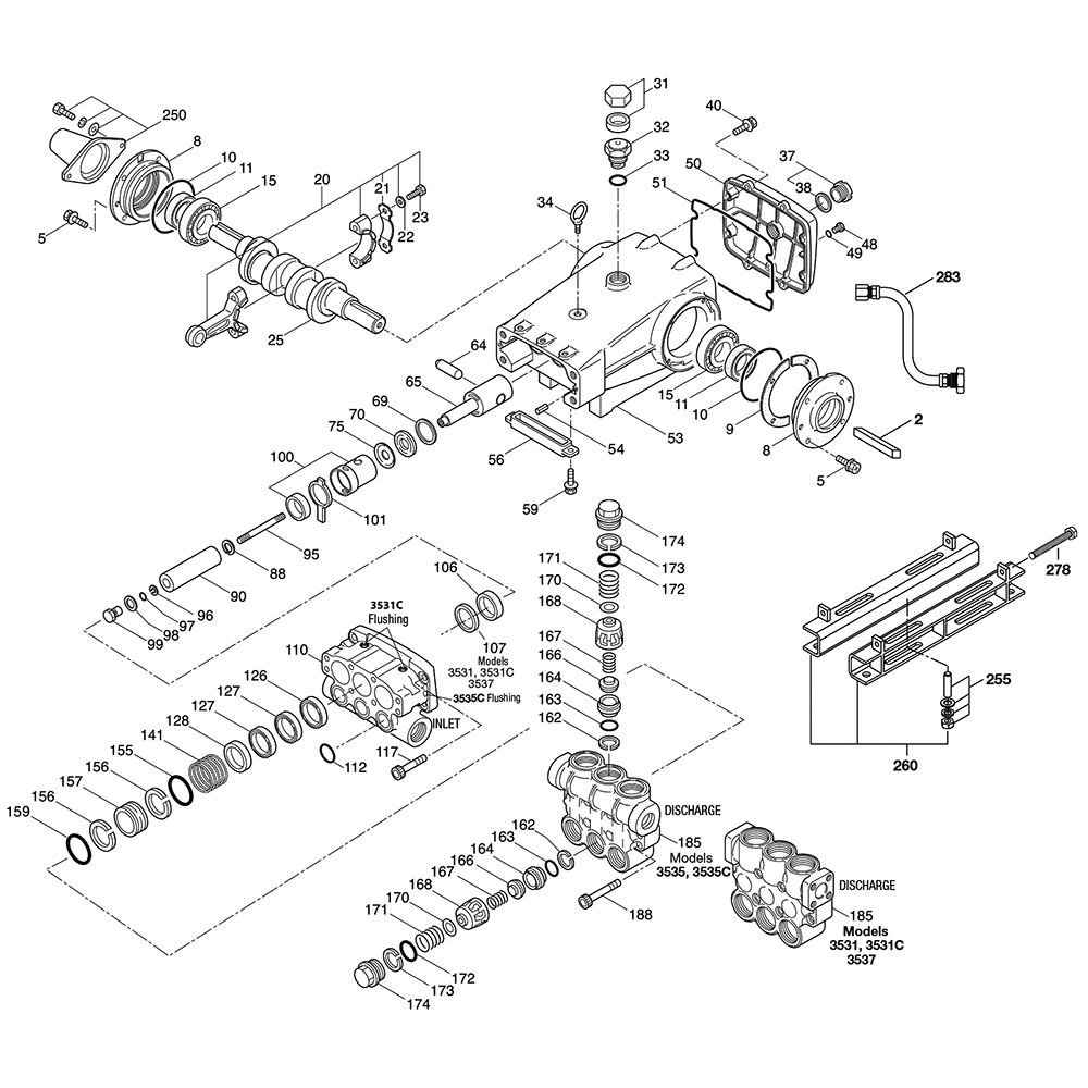 Cat Pumps 3535 Plunger Pump Repair Parts Dultmeier Sales