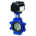 Keystone Spring Return Air Actuated Butterfly Valve