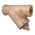 Keckley Threaded Y-Strainer, Cast Bronze.