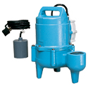 Sewage Pump, Automatic Switch, 120 GPM @ 5', Solids to 2