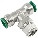 Parker Hannifin Prestolok Tube Fittings Nickel Plated Brass Push-to-Connect