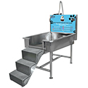 Dog Washing System with Back Room Equipment Panel