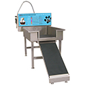 Dog Washing System with Front Equipment Panel