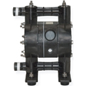 Air Operated Diaphragm Pump, 1/2 FPT Ports, Kynar Body, Teflon Diaphragm, 12 GPM @ 12 cfm air
