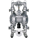 AAir Operated Diaphragm Pump, 1-1/2 FPT Ports, Aluminum Body, Buna Diaphragm, 100 GPM @ 90 cfm air