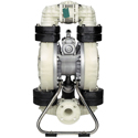 Air Operated Diaphragm Pump, 2 Flange Ports, Polypropylene Body, Teflon Diaphragm, 150 GPM @ 180 cfm air