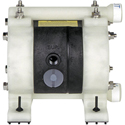 Air Operated Diaphragm Pump, 1/4 FPT Ports, Polypropylene Body, Teflon Diaphragm, 3 GPM @ 7 cfm air