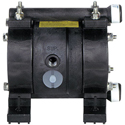 Air Operated Diaphragm Pump, 1/4 FPT Ports, Kynar Body, Teflon Diaphragm, 3 GPM @ 7 cfm air